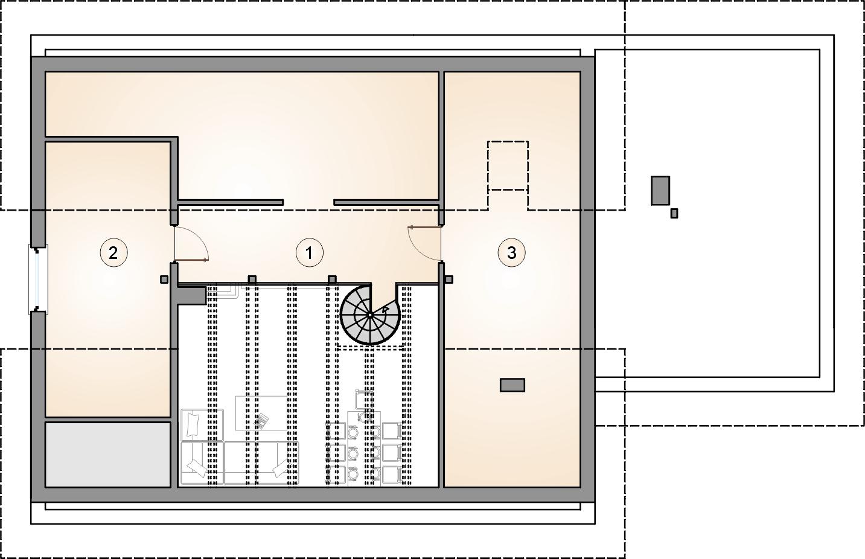 Studio Atrium Kos III rzut poddasze