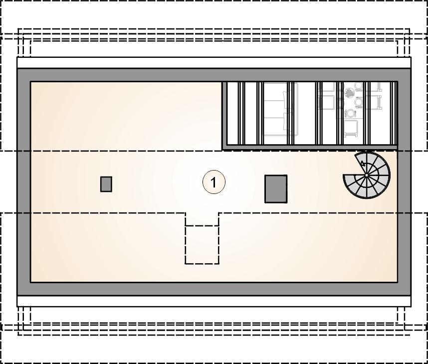 Studio Atrium Ricardo X rzut poddasze
